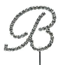 b cake topper b letter rhinestone cake topper faux diamond silver
