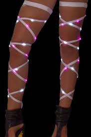 white pink light up leg wraps