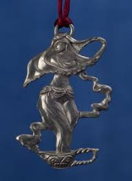 seagull pewter hanging ornament of new year undated