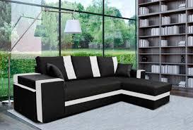 canape angle noir et blanc canape d angle à gauche convertible suez noir blanc