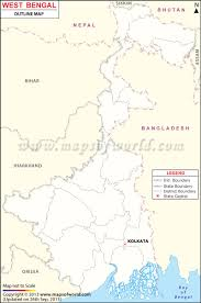 India Map Blank With States by Bengal Outline Map