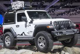 jeep wrangler grey mopar customized 2018 jeep wrangler pair steals the show in los