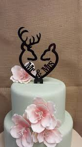 buck and doe cake topper buck and doe heart collection mr mrs buck and deer heart