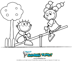 seesaw coloring page see more crafts and coloring pages at u2026 flickr