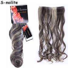 ladies hair pieces for gray hair dark brown mix ash blonde curly 24 inches women lady clip in hair