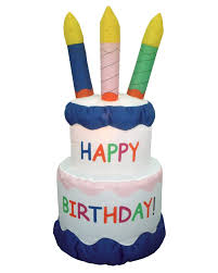 amazon 6 foot inflatable happy birthday cake candles