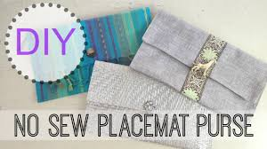 diy no sew placemat purse michele baratta youtube
