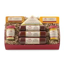 sausage and cheese gift baskets great retirement gift baskets ideas hickory farms