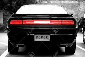 is dodge a car brand mainz germany july 17 2015 the back of a black sports car