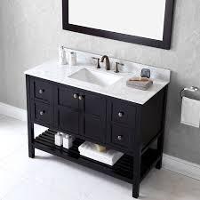 48 single sink vanity with backsplash virtu usa winterfell 48 inch single sink espresso vanity with