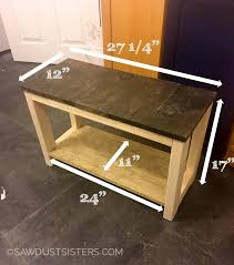 diy mudroom bench from scrap wood sawdust sisters