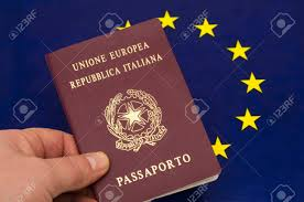 The European Flag Italian Passport And The European Flag Stock Photo Picture And