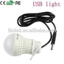 usb 5v 3w led light bulb usb cable for computers mobile power