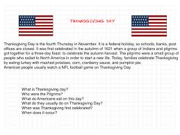 what day was thanksgiving on culture tefl class website