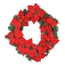 22 pre lit b o artificial poinsettia wreath clear