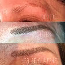 permanent makeup eyebrows before after and healed mugeek vidalondon