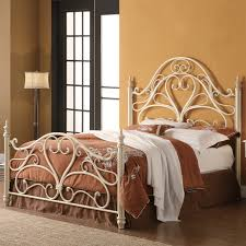 coaster fine furniture 300264q iron bed with heart shaped center
