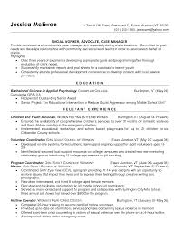 Teenage Resume Examples Case Manager Resume Example Social Worker Critical Time