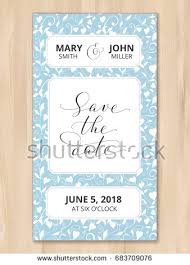 save date wedding invitation card template stock vector 431704579