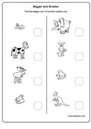 kindergarten activities big and small worksheets for big and small homeshealth info