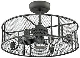 Ceiling Fan With Cage Light Ceiling Fan In Cage Brushed Nickel Industrial Cage 3 Watt Ceiling