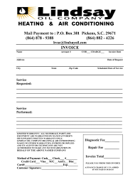 diagnostic report template hvac service report template and 6 best images of hvac invoice