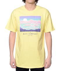 light yellow t shirt neff wilderness light yellow t shirt zumiez