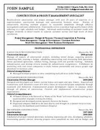 Construction Manager Sample Resume by Build A Construction Resume Http Career Advice Monster Ca