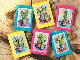 free cactus from cross stitch card shop free chart cross