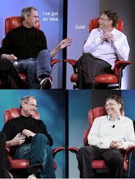 Bill Gates And Steve Jobs Meme - image 69168 steve jobs vs bill gates know your meme