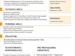 filipino nurse resume sample stunning design ideas resume sample format 4 resume templates you download resume sample format
