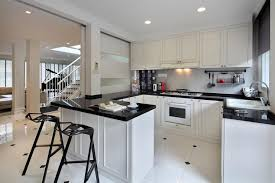 kitchen minimalist cabinets white colors style kitchen design