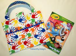 art supplies child tote busy bag rainbow crayon holder kid u0027s