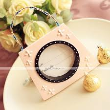 wedding table place card ideas beter gifts pink mini handbag photo frame table place card