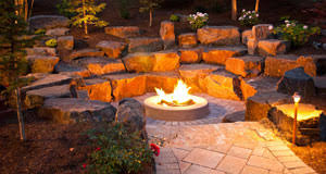 Firepit Design Spokane Coeur D Alene Backyard Pit Design Construction