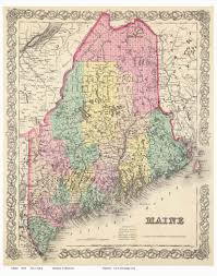 Map Of Maine Coast Old Maps Of Maine Small State Maps