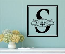 custom monogram name vinyl decal wall stickers letters words