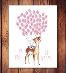 Baby Deer Nursery Deer Guestbook Guest Book Alternative Fairy Woodland