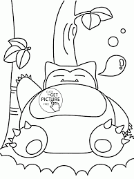 big pokemon snorlax coloring pages for kids pokemon characters