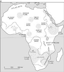 Africas Map by The Drainage Of Africa Since Cretaceous Pdf Download Available