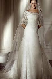 off the shoulder lace a line princess modest best wedding gowns