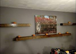 Reclaimed Wood Floating Shelves by Wood Floating Shelves 16 Inches Deep Rustic Shelf