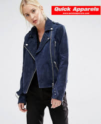 biker jacket women best selling women biker jacket in navy blue suede