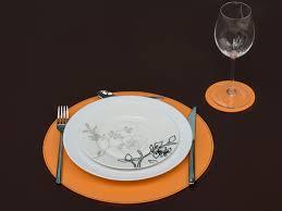 orange round placemats circle placemats round dining set orange
