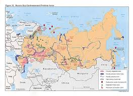 Geography Of Russia by Map Of Radioactive Contamination Sites In Russia And The