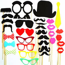 Photobooth Online Shop Photo Booth Props 34pcs Masks Lips Favor Wedding
