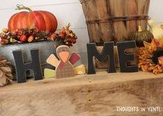 gobble wooden letters thanksgiving crafts saturday craft
