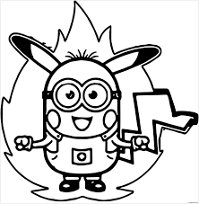 minion pokemon coloring free coloring pages