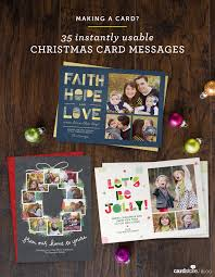 making a card 35 instantly usable christmas card messages