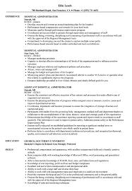 hospital resume exles hospital administrator resume sles velvet